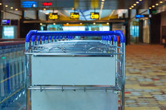 Luggage cart in airport Stock Photos