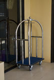 Luggage cart in a hotel Royalty Free Stock Photography