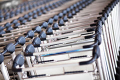 luggage carts Stock Images