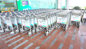 Luggage carts Royalty Free Stock Image
