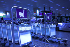 Luggage carts Royalty Free Stock Images