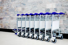 Luggage carts Stock Photo