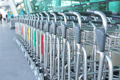 Luggage carts Royalty Free Stock Photos