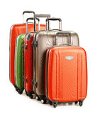 Luggage consisting of large suitcases isolated on white Stock Images