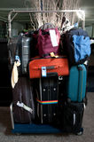 Luggage consisting of large suitcases rucksacks Stock Photos