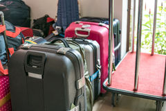 Luggage consisting of large suitcases Royalty Free Stock Photo