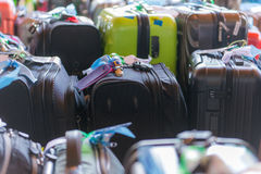 Luggage consisting of large suitcases rucksacks and travel bag.  Stock Images