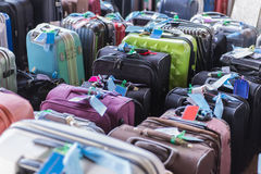 Luggage consisting of large suitcases rucksacks and travel bag.  Stock Photos