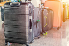 Luggage consisting of large suitcases rucksacks and travel bag.  Royalty Free Stock Photos