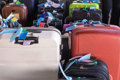 Luggage consisting of large suitcases rucksacks and travel bag.  Royalty Free Stock Photography