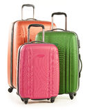 Luggage consisting of large suitcases on white Royalty Free Stock Image