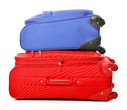 Luggage consisting of large suitcases on white Stock Image
