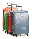 Luggage consisting of large suitcases on white Royalty Free Stock Photo