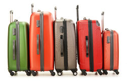 Luggage consisting of large suitcases on white Royalty Free Stock Photos