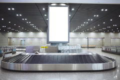 Luggage conveyor belt within the Beijing Capital International Airport Royalty Free Stock Images