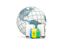 Luggage with flag of saint vincent and the grenadines. Three bag Stock Photos