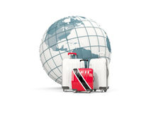 Luggage with flag of trinidad and tobago. Three bags in front  Stock Photo
