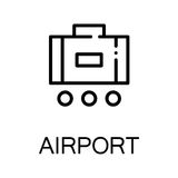 Luggage flat icon or logo for web design. Stock Image