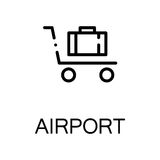 Luggage flat icon or logo for web design. Stock Images