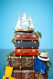 Luggage. Goods for holidays, leisure and travel royalty free stock photography