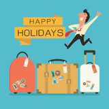 Luggage for holiday Royalty Free Stock Images