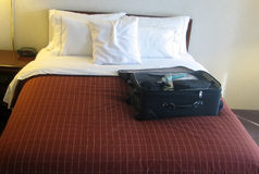 Luggage in hotel room Royalty Free Stock Images