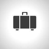 Luggage icon. On  gray background. Vector illustration Royalty Free Stock Image