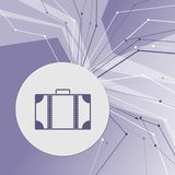 Luggage icon on purple abstract modern background. The lines in all directions. With room for your advertising. Illustration Stock Images