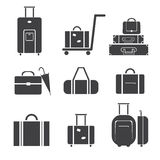 Luggage icon set Royalty Free Stock Photo
