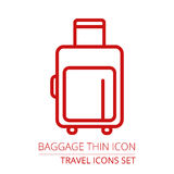 Luggage Icon. Royalty Free Stock Images
