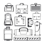 Luggage icons set Royalty Free Stock Photos