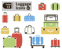 Luggage icons Royalty Free Stock Images
