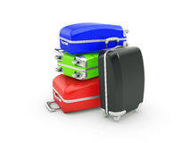 Luggage isolated on white background Stock Images