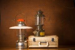 Luggage and lantern Stock Photo