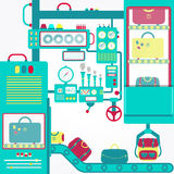 Luggage machine Royalty Free Stock Photo