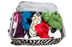 Luggage preparation Stock Image