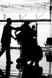 Luggage Push Stock Photography