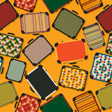 Luggage seamless pattern background Stock Photos