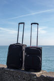 Luggage on the seaside, Dún Laoghaire, Ireland, 2015 Stock Images