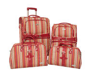 Luggage set with bags. Royalty Free Stock Photo