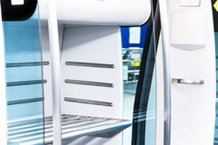 Luggage shelf in train Royalty Free Stock Images