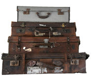 Luggage stack Royalty Free Stock Photos