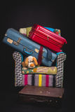Luggage and Suitcase on Living room chair Stock Photos