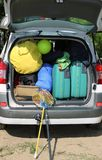 Luggage and suitcases in car Royalty Free Stock Photography