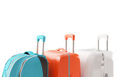Luggage, suitcases for holiday, render Royalty Free Stock Image