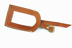Luggage Tag. Before white background Royalty Free Stock Photography