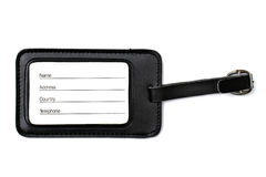 Luggage tag isolated on white Royalty Free Stock Photo