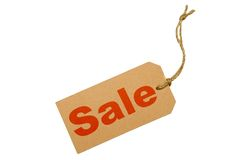 Luggage tag SALE Royalty Free Stock Photo
