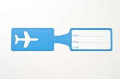 Luggage tag. On white background Royalty Free Stock Photography