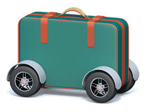 Luggage with tires Stock Photos